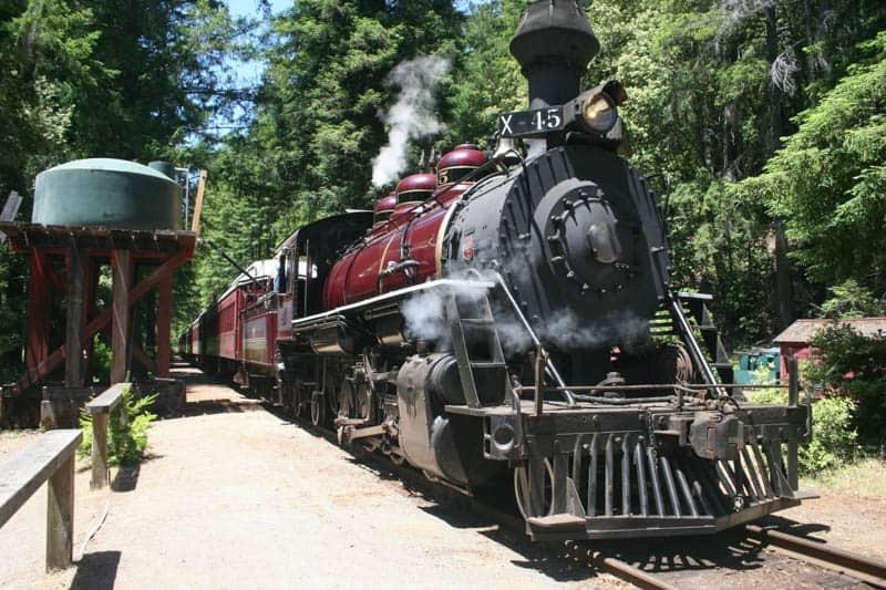 The Skunk Train in Fort Bragg California