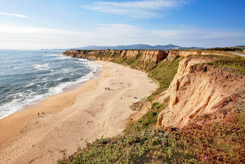 Half Moon Bay State Beach in California