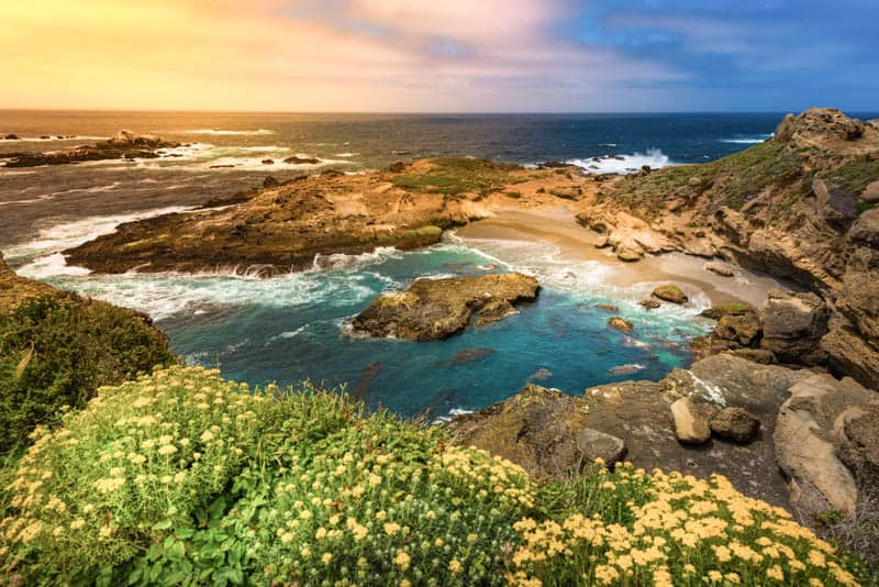 Sunset at Point Lobos State Reserve in Carmel California