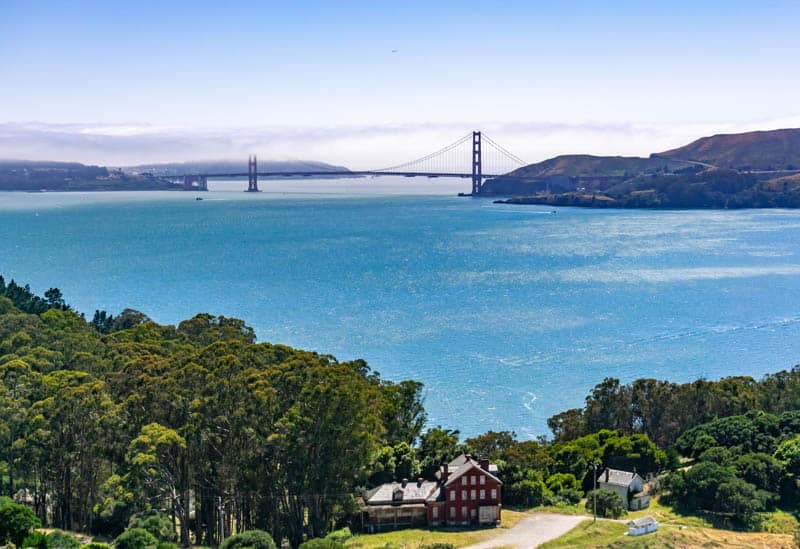 View from Angel Island State Park San Francisco Bay California