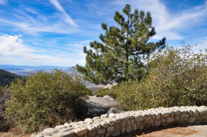 Viewpoint along the Palms to Pines Scenic Route in California