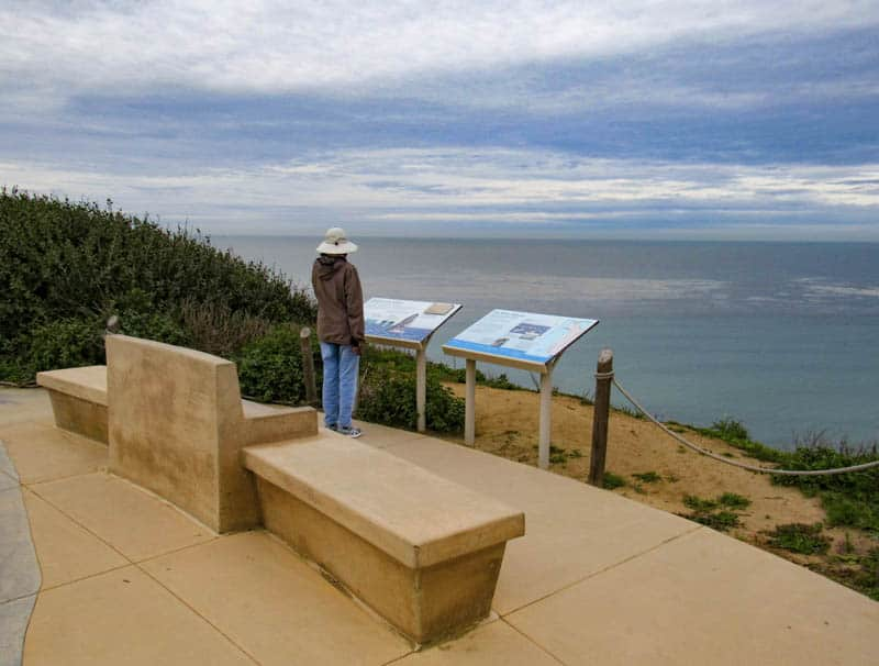 Whale Overlook at Cabrillo National Monument in San Diego