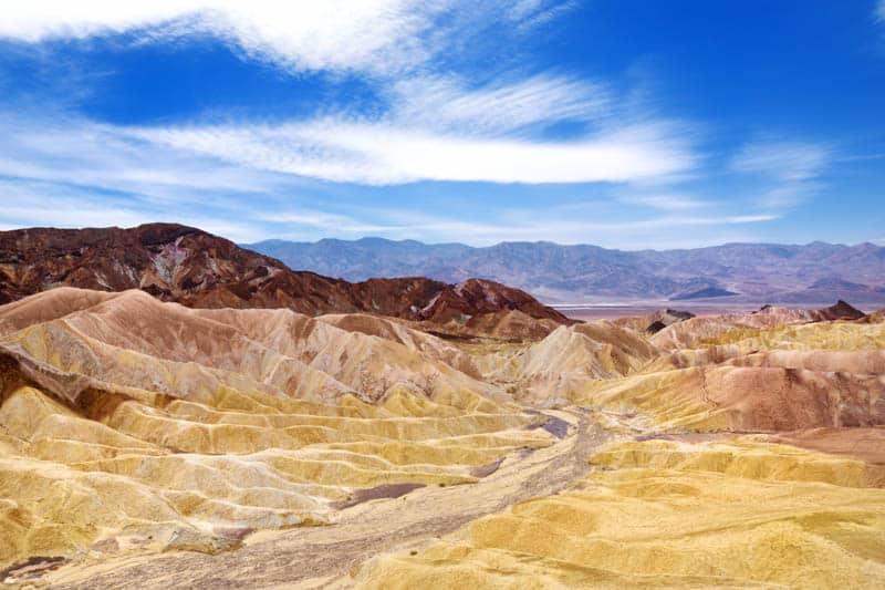 Badlands in Death Valley California