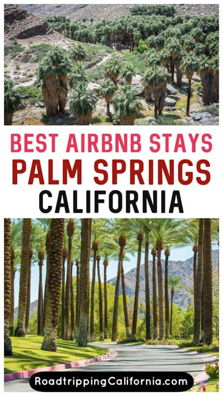 Discover the best Airbnb stays in and around Palm Springs, California! From Airbnbs with private pools to cozy desert cabins, these are the best Airbnb picks in the Palm Springs area!