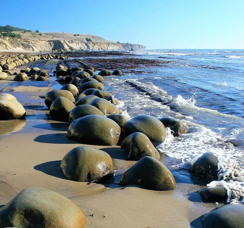Picturesque Bowling Ball Beach in Northern California
