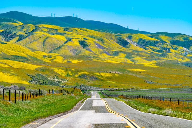 California Highway 58 to Carrizo Plain National Monument