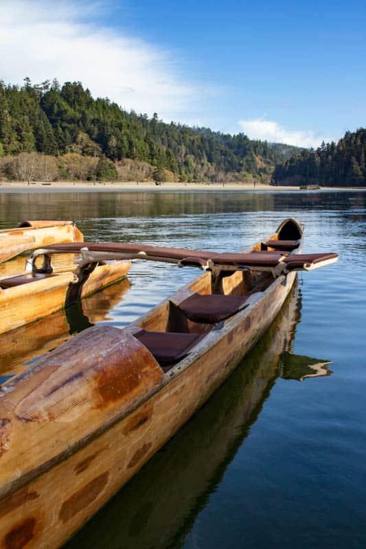 canoeing Big River In Mendocino California