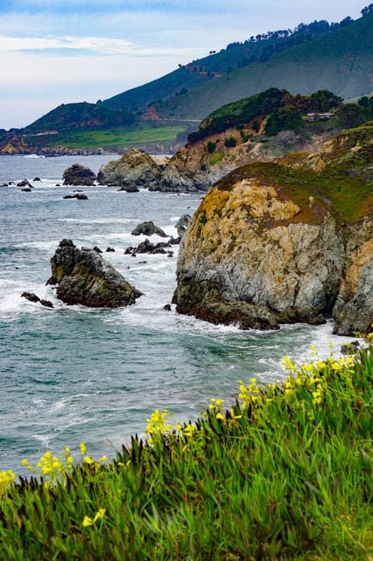 Cliffs of Garrapata State Park in Big Sur California