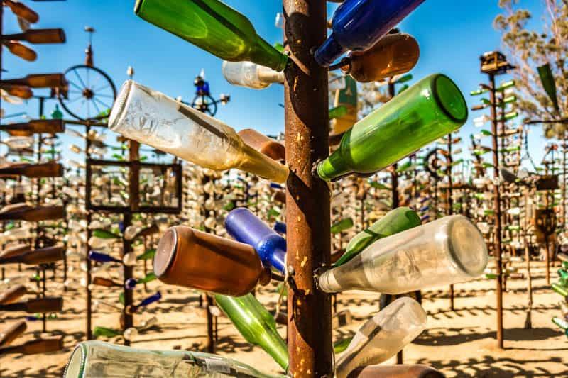 Elmer's Bottle Tree Ranch along Route 66 in California