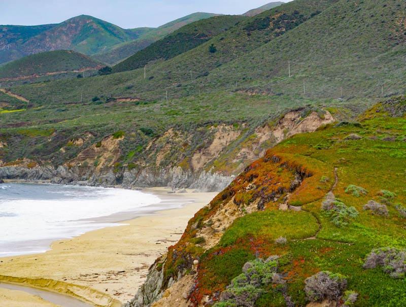 A view of Garrapata State Beach in Big Sur California