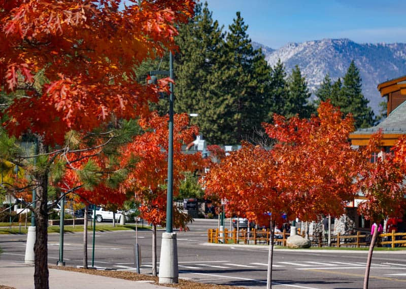 Heavenly Village in South Lake Tahoe in the fall