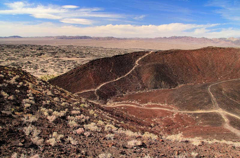 Hiking Amboy Crater in the Mojave Desert in California