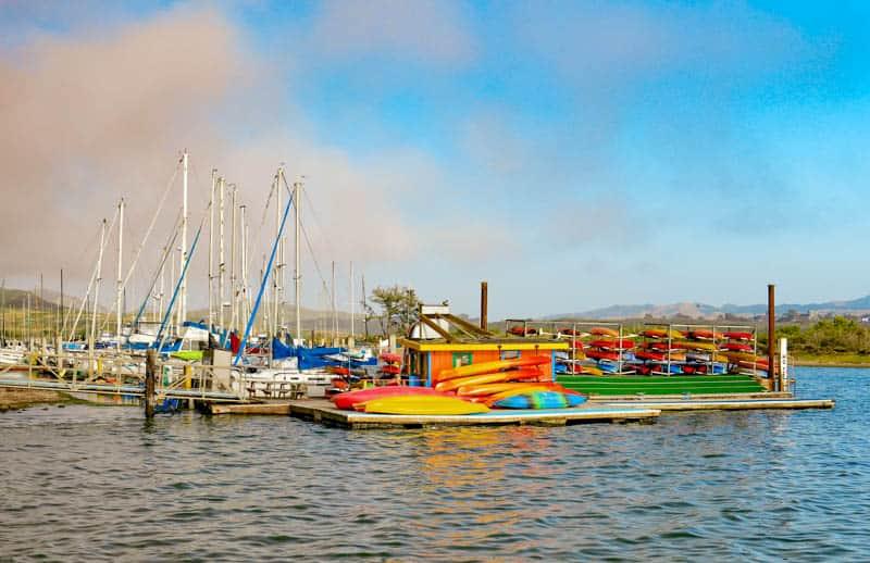 Kayaks in Morro Bay California