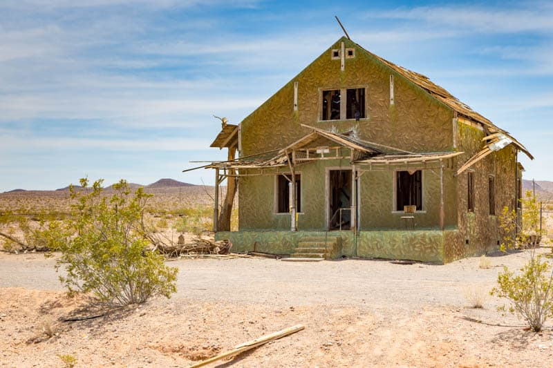 Old Building along Route 66 in California