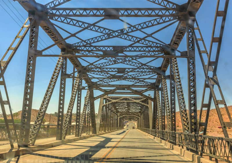 Bridge over the Oro Grande River in California
