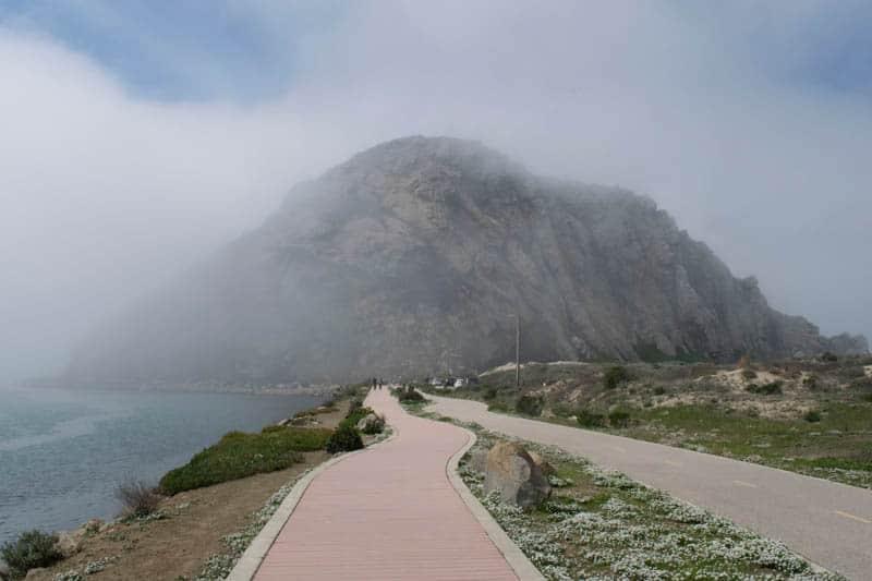 Walking or biking path to Morro Rock in Morro Bay California