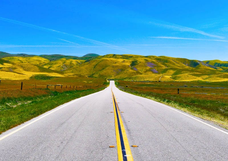 Road to Carrizo Plain National Monument