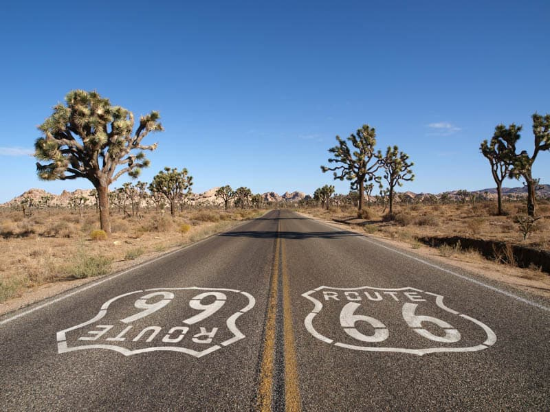 the Route 66 double emblem