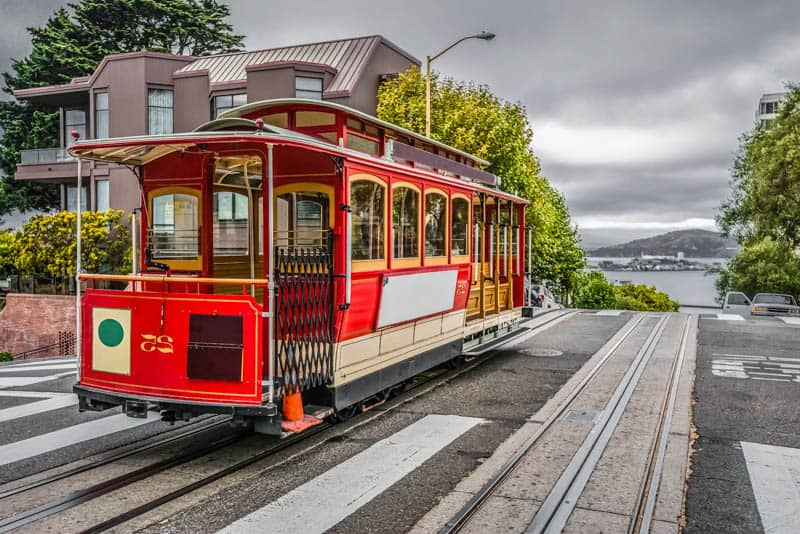 Riding in a San Francisco Cable Car is one of the best things to do in California!