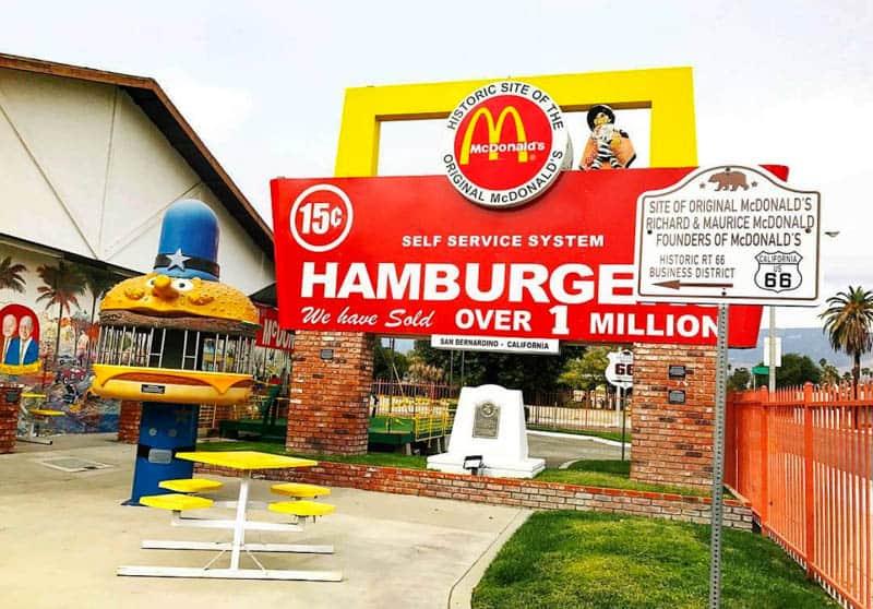 The original McDonald's in San Bernadino California