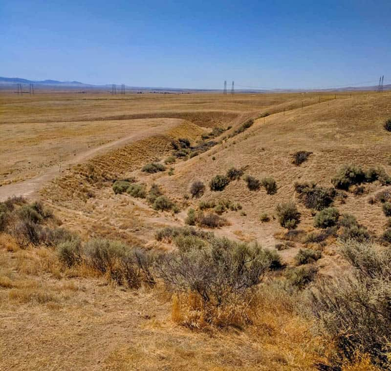 The course of Wallace Creek in California was altered by the San Andreas Fault.
