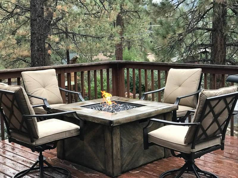 Outdoor Fire Pit Big Bear Airbnb