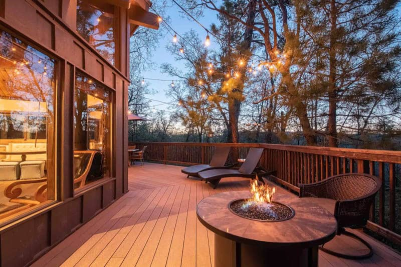 Beautiful deck Big Bear Airbnb Rental California