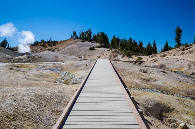 The Boardwalk Trail at Bumpass Hell in Lassen Volcanic NP California