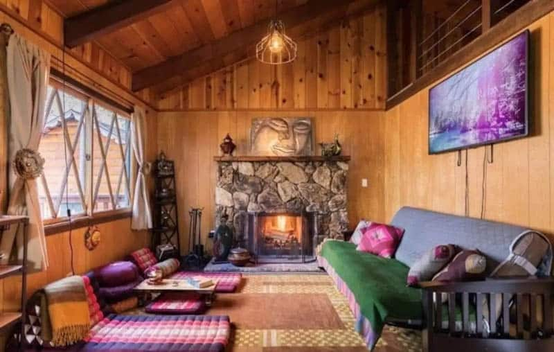 Airbnb Cabin Interior Big Bear Lake California