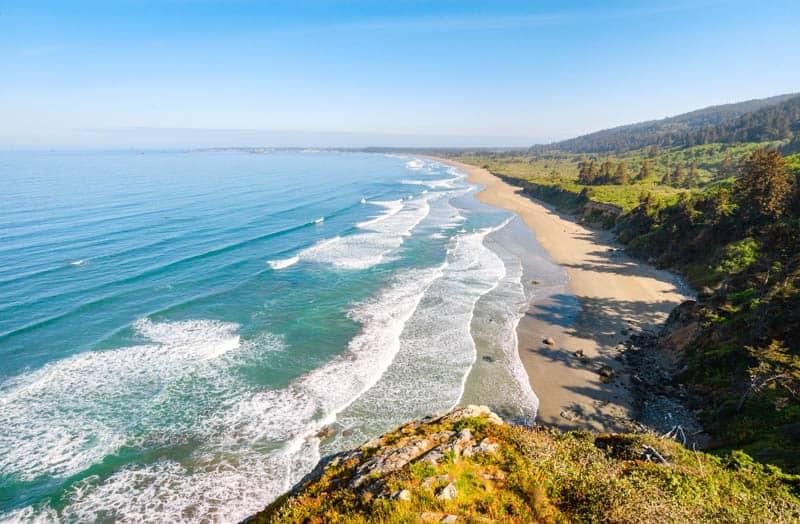 Crescent Beach Overlook in Del Norte Coast Redwoods State Park California