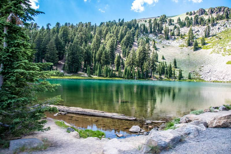 Emerald Lake in Lassen Volcanic NP California