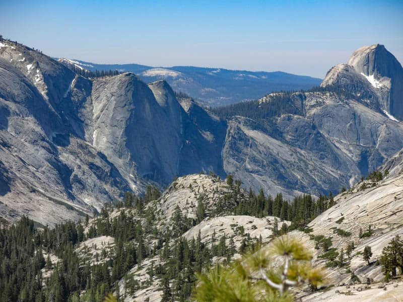 Granite Cliffs at Olmsted Point along Tioga Road in California