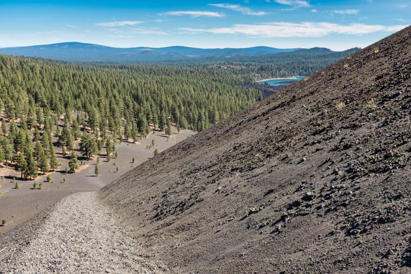 Hiking up Cinder Cone in Lassen Volcanic NP California