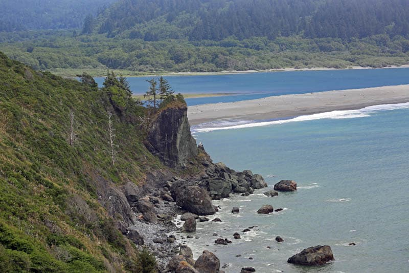 A view of the mouth of the Klamath River in California