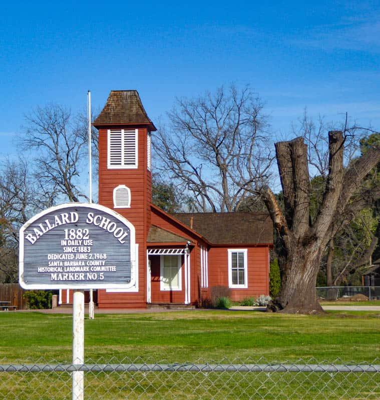 The Little Red Schoolhouse in Ballard California