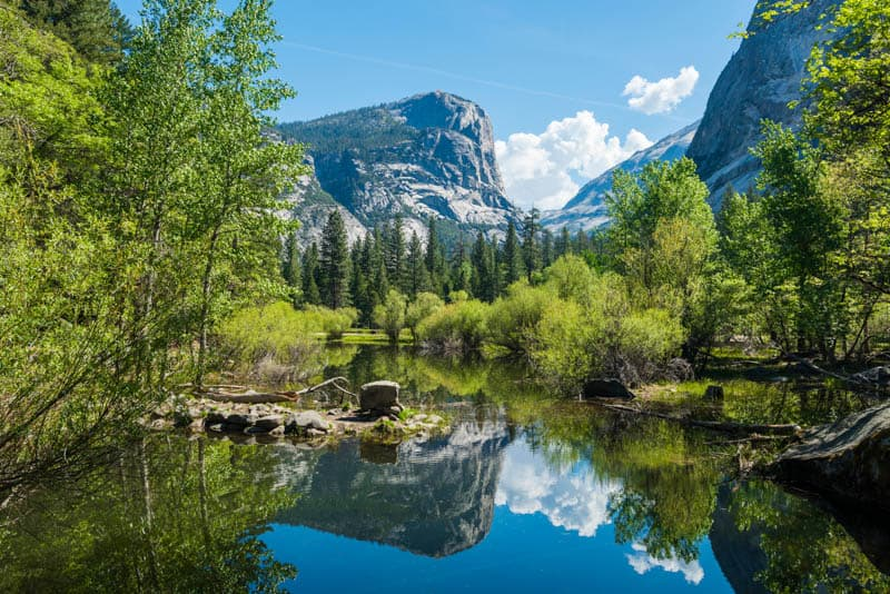 Mirror Lake in Yosemite National Park, California