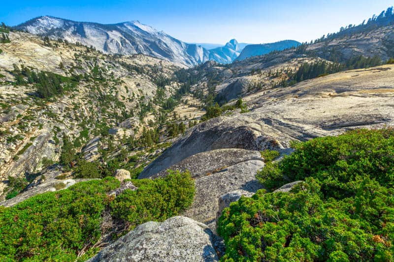 Views at Olmsted Point in Yosemite National Park California