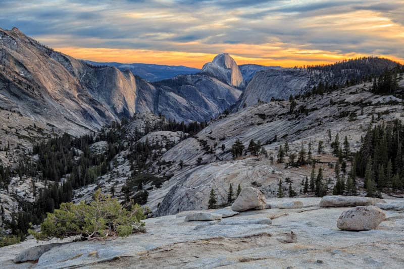 Olmsted Point along Tioga Road in Yosemite NP California
