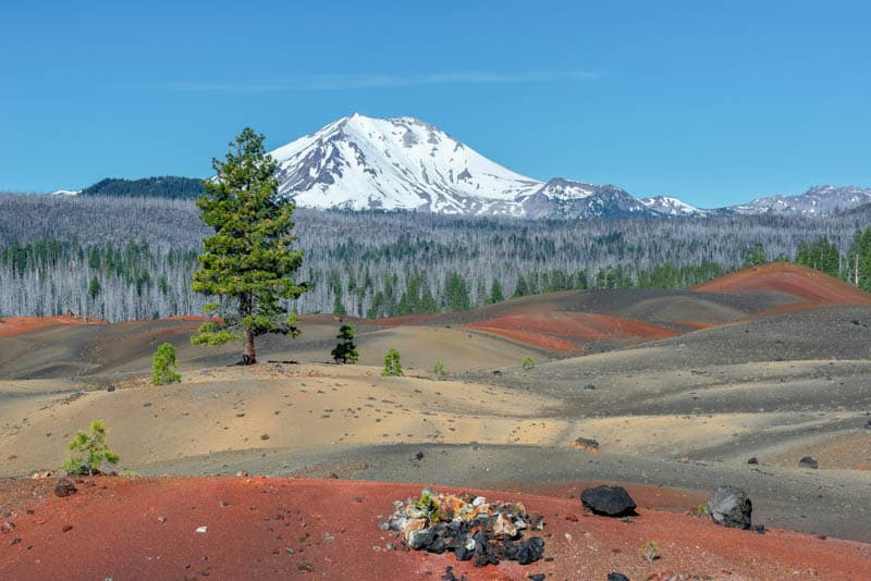 Painted Dunes at Lassen Volcanic National Park in northeastern California