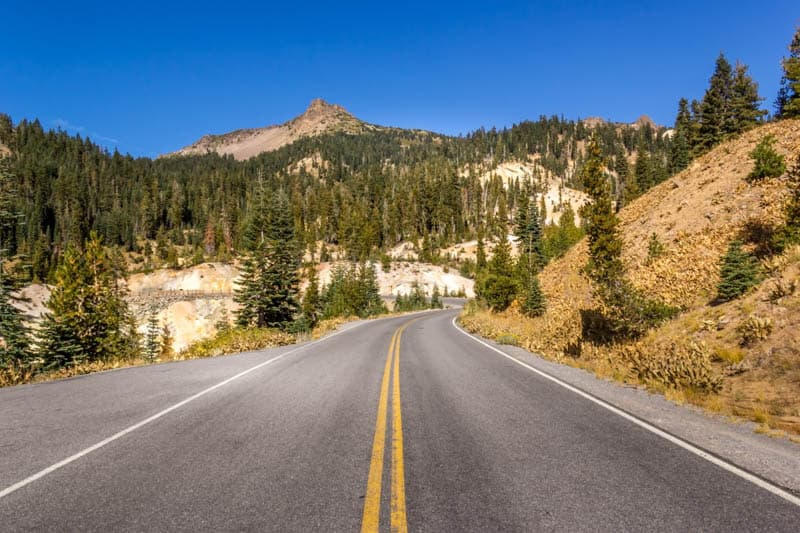 Park Highway in Lassen Volcanic NP California