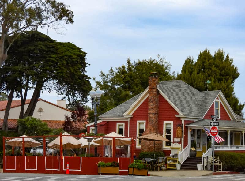 Red House Cafe in Pacific Grove California