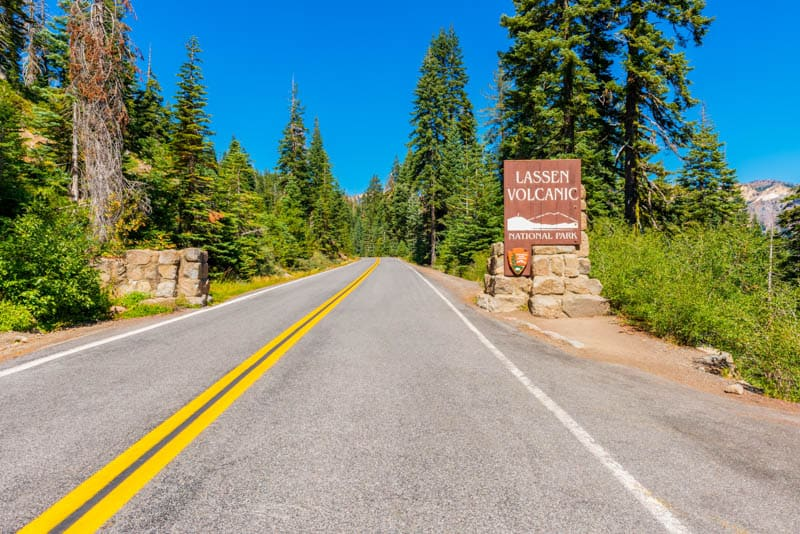 One of the entrances to Lassen Volcanic National Park California