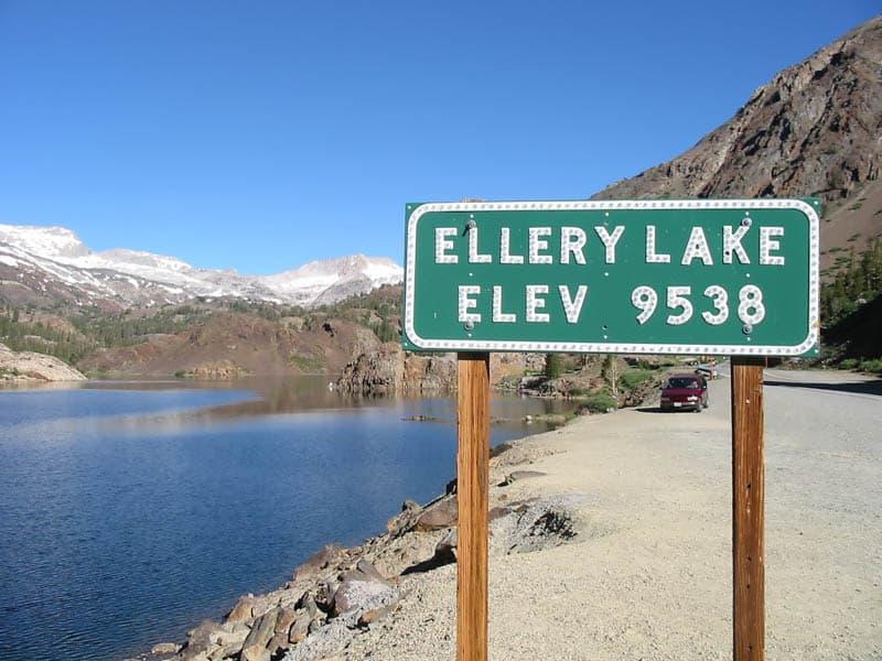 Ellery Lake along Tioga Road in California