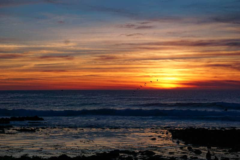 Sunset in Pacific Grove, California