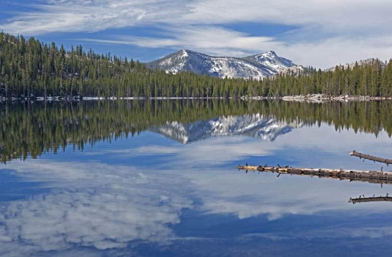 Beautiful Tenaya Lake in Yosemite National Park, California