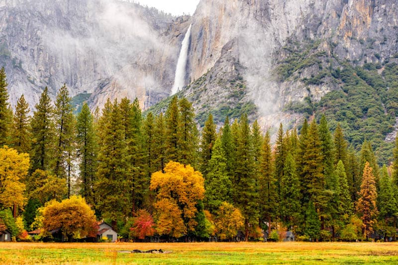 Yosemite Falls in the fall