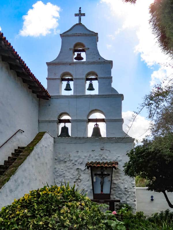 Bell Wall at the San Diego Mission in California