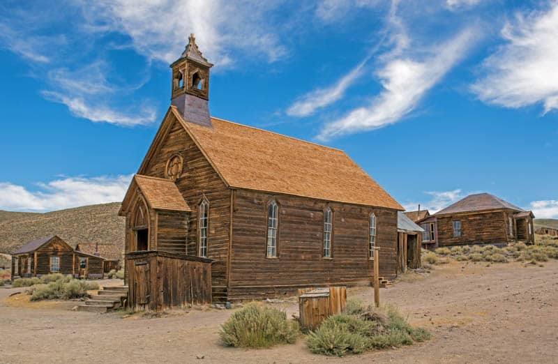 Bodie State Historic Park in California