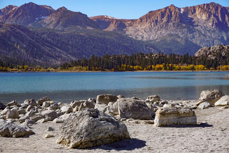 Boulders at June Lake in California