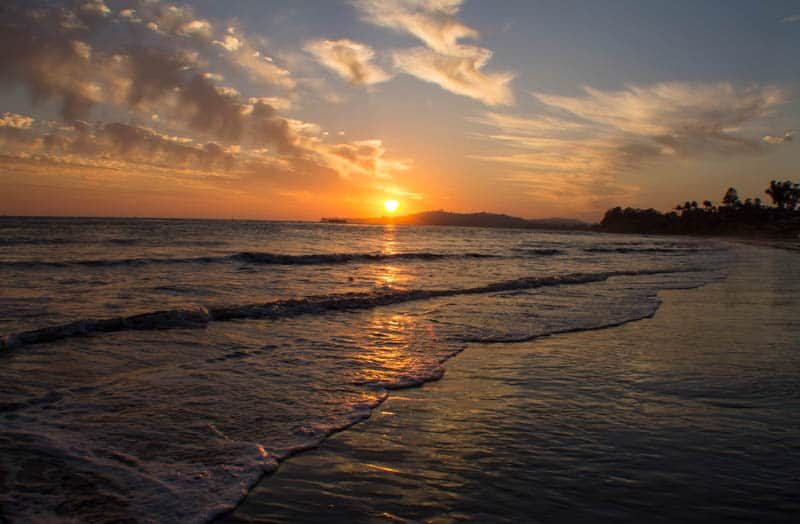 Sunset at Butterfly Beach in Montecito California